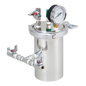ボンビングタンク:内寸φ95.5mm × H160mm、使用圧力範囲:<0.5MPaG